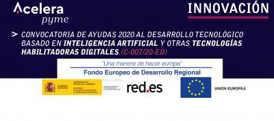 Ayudas 2020 sobre desarrollo tecnológico basado en inteligencia artificial y otras tecnologías habilitadoras digitales