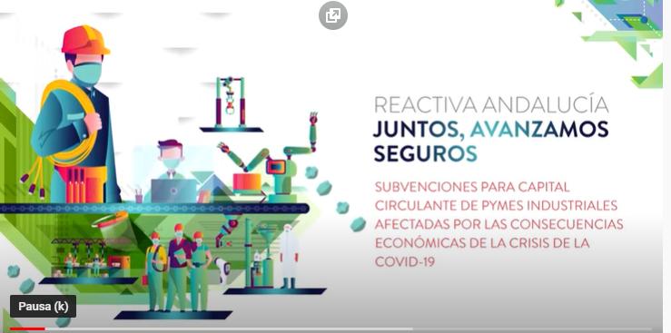 Convocatoria de subvenciones para capital circulante de pymes industriales afectadas por la crisis de la COVID-19