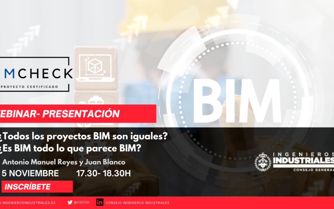 El Consejo General de Colegios de Ingenieros Industriales presentan BIMCheck, un servicio pionero en España de auditoría de proyectos BIM
