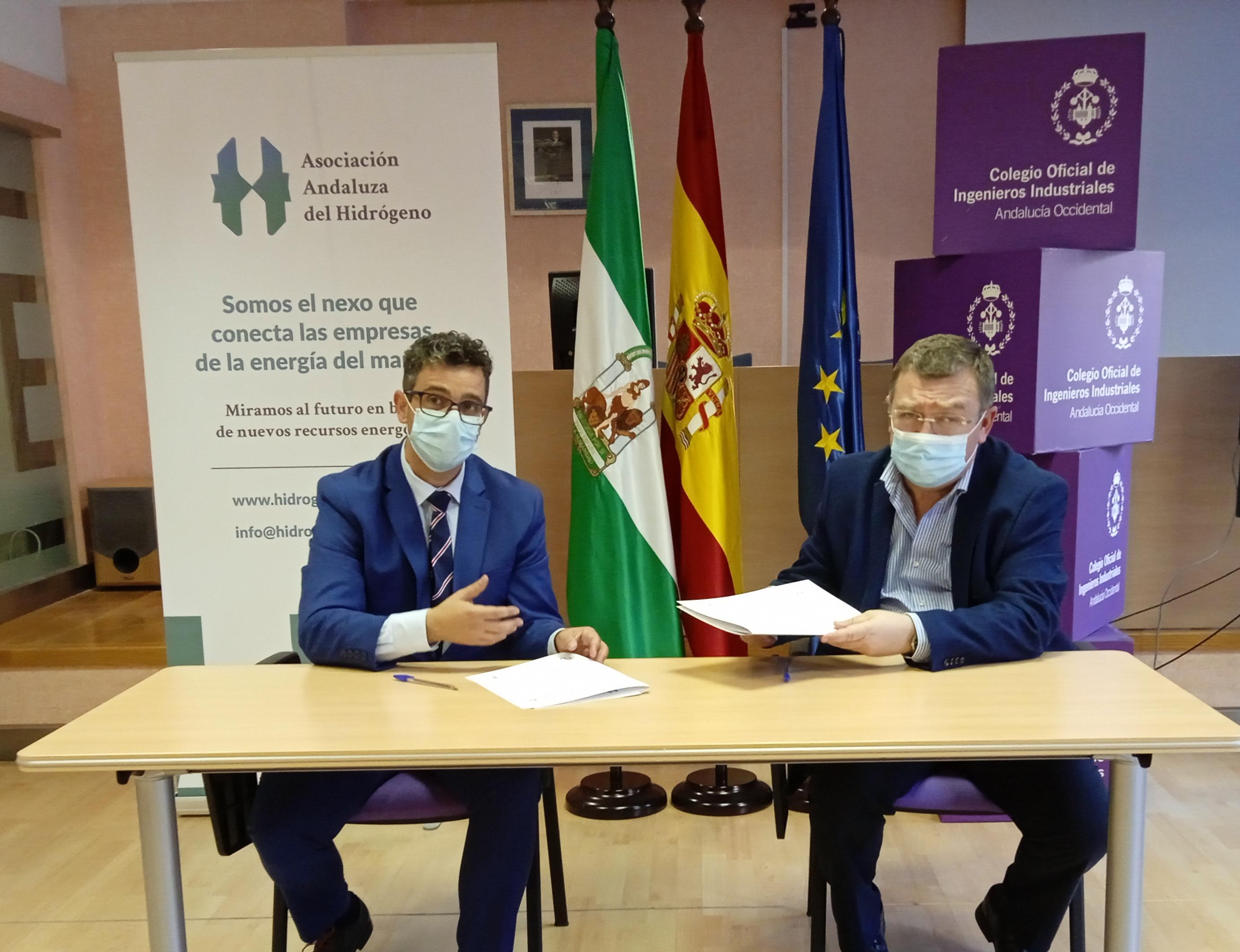Nuestro Colegio y la Asociación Andaluza del Hidrógeno firman acuerdo de colaboración